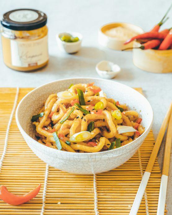 Křupavý arašídový krém 200g udon nudle recept