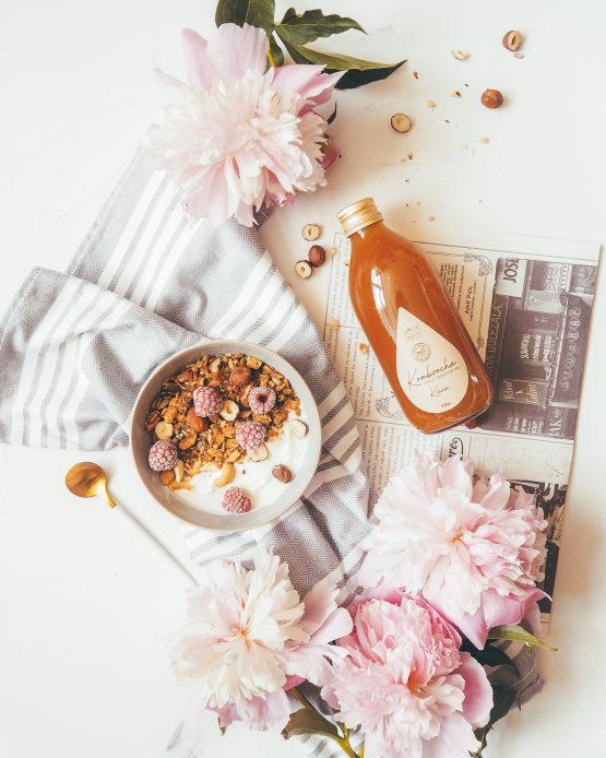 Kombucha káva bio káva arabica nepasterizovaná raw kombucha probiotický perlivý nápoj snídaně