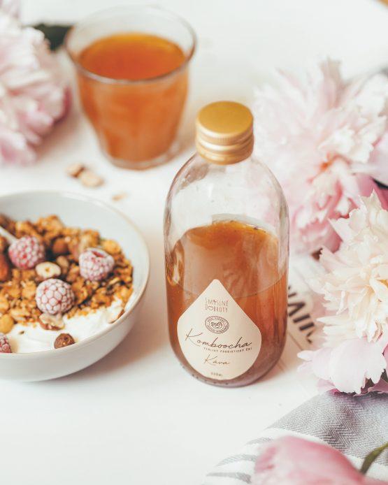 Kombucha káva bio káva arabica nepasterizovaná raw kombucha probiotický perlivý nápoj