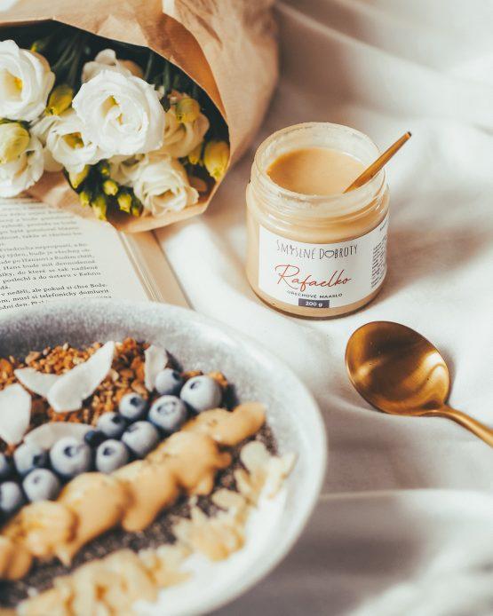 Rafaelko ořechový krém 200g bez cukru dezert snídaně jogurt miska