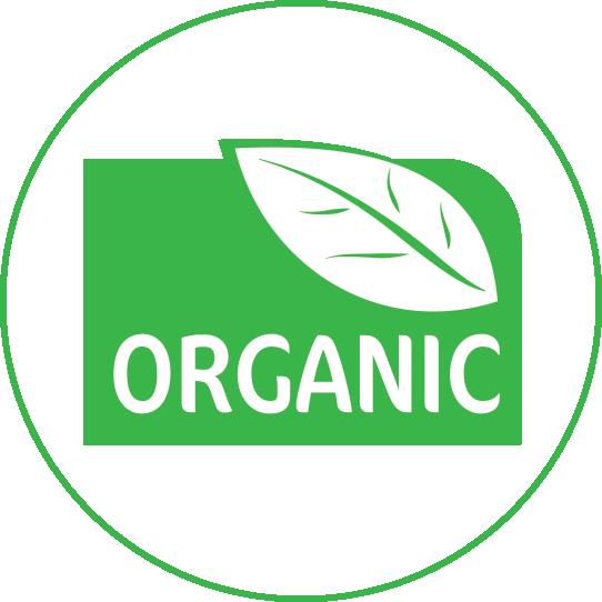 100% organická bavlna značka logo