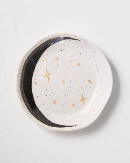 Boho talíř měsíc hvězdy kamenina