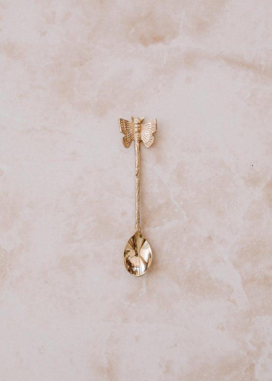 Motýl mosazná lžička ruční výroba