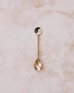 Yin Yang mosazná lžička ruční výroba